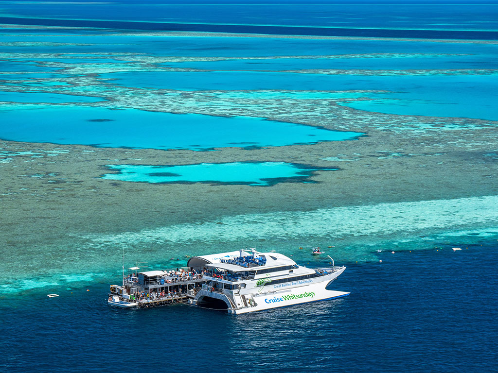 Visit the spectacular Great Barrier Reef